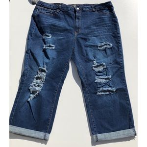 L&B Lucky & Blessed distressed denim